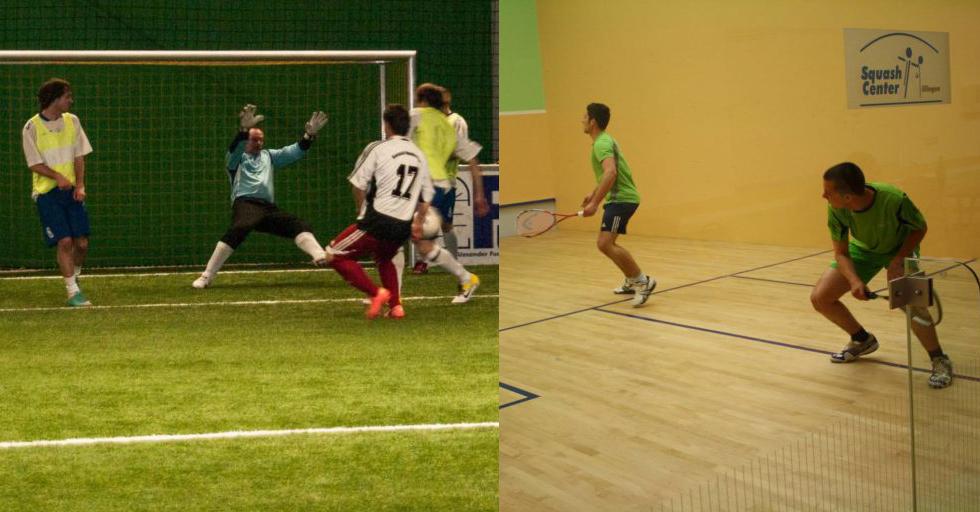 Soccer und Squash wieder möglich